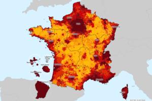 La carte des loyers des maisons et appartements en France