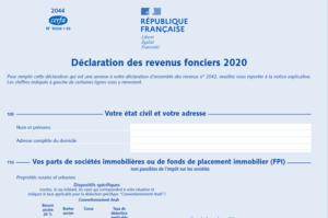Déclaration des revenus fonciers 2020