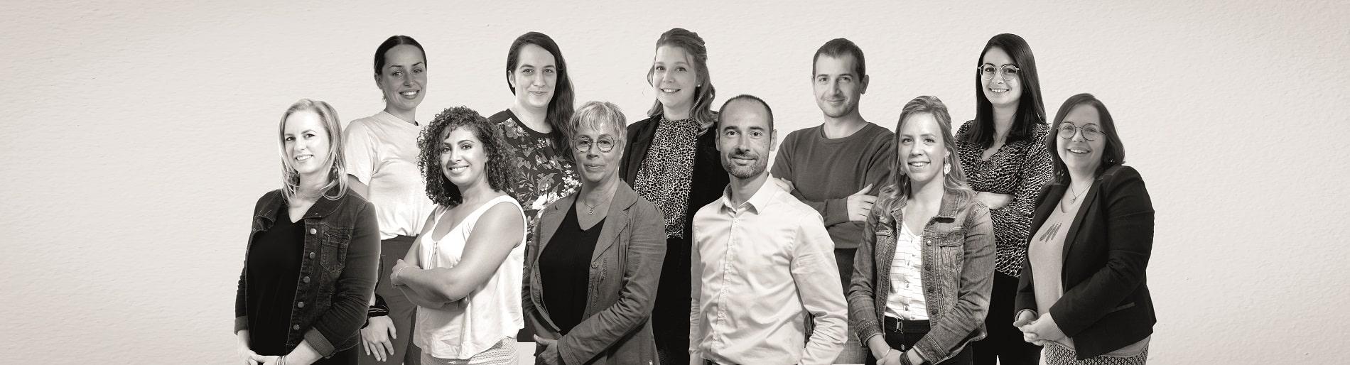 L'équipe du SERVICE DE GESTION : gestionnaires locatifs, communication et équipe administrative